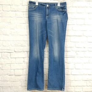INC | Faded Front Bootcut Classic Wash Jeans